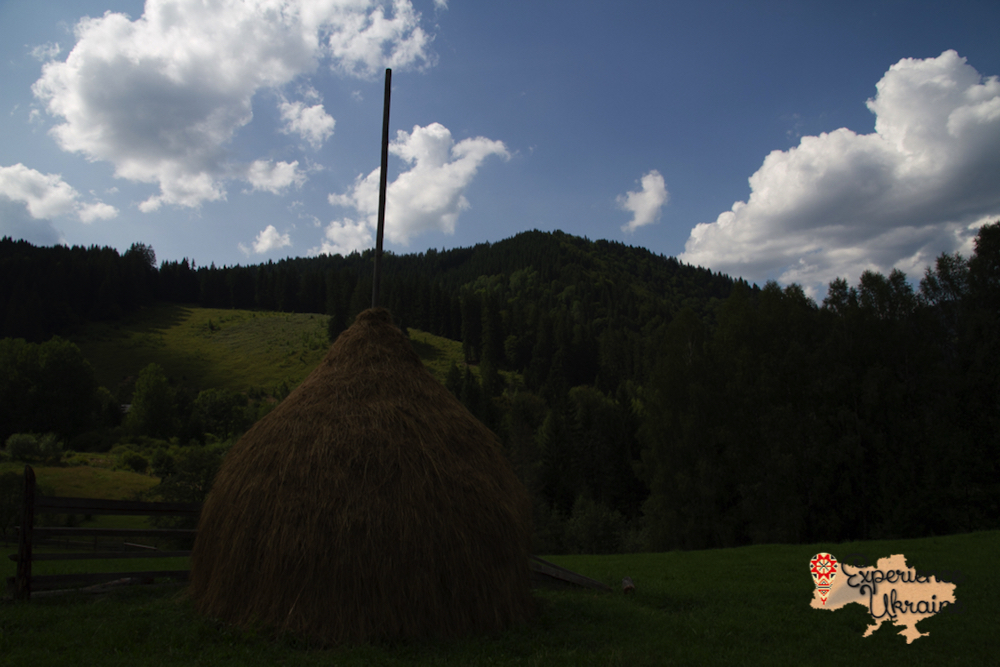 Hay stacks in Dzembronya