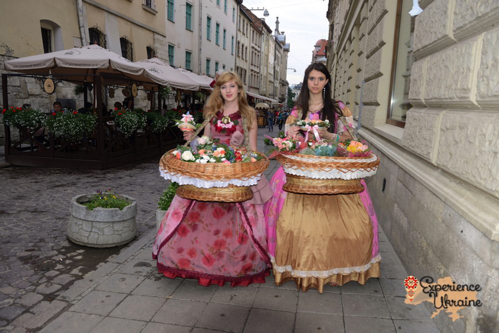 Flower girls at Lviv-imp