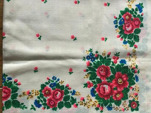 Vintage wool scarf with floral design