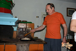 Peter cooking on stove-imp