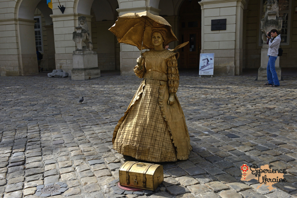 Golden girl in Lviv-imp