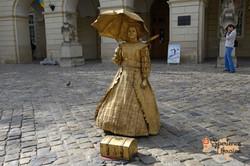 Golden girl in Lviv-imp