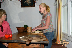 Moreen and Tanya preparing food-imp