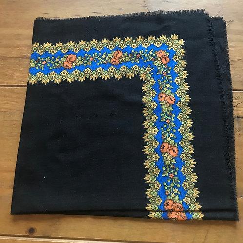 Black vintage scarf from Ukraine