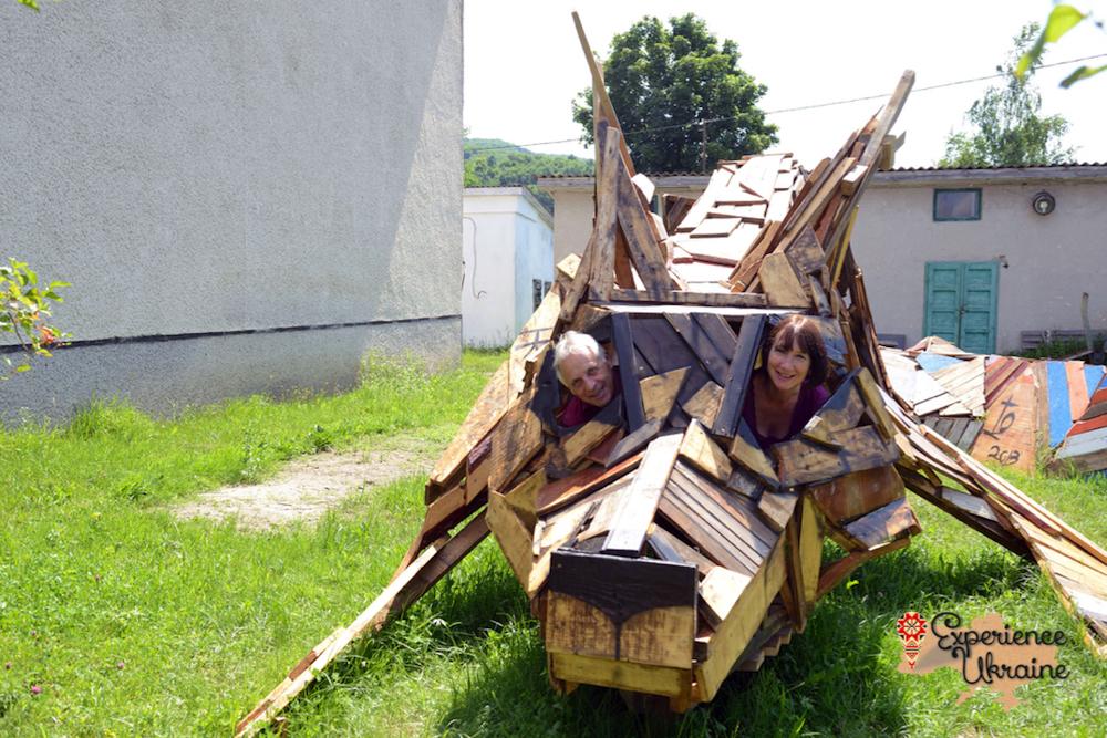 Inside wooden fox-imp