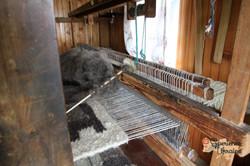 wooden loom for weaving wool rugs