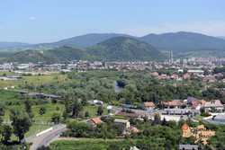 View of Mukachevo from castle-imp
