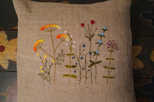 Hand embroidered cushion cover from Ukraine