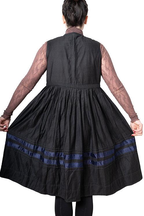 Vintage Black cotton dress from Central Ukraine