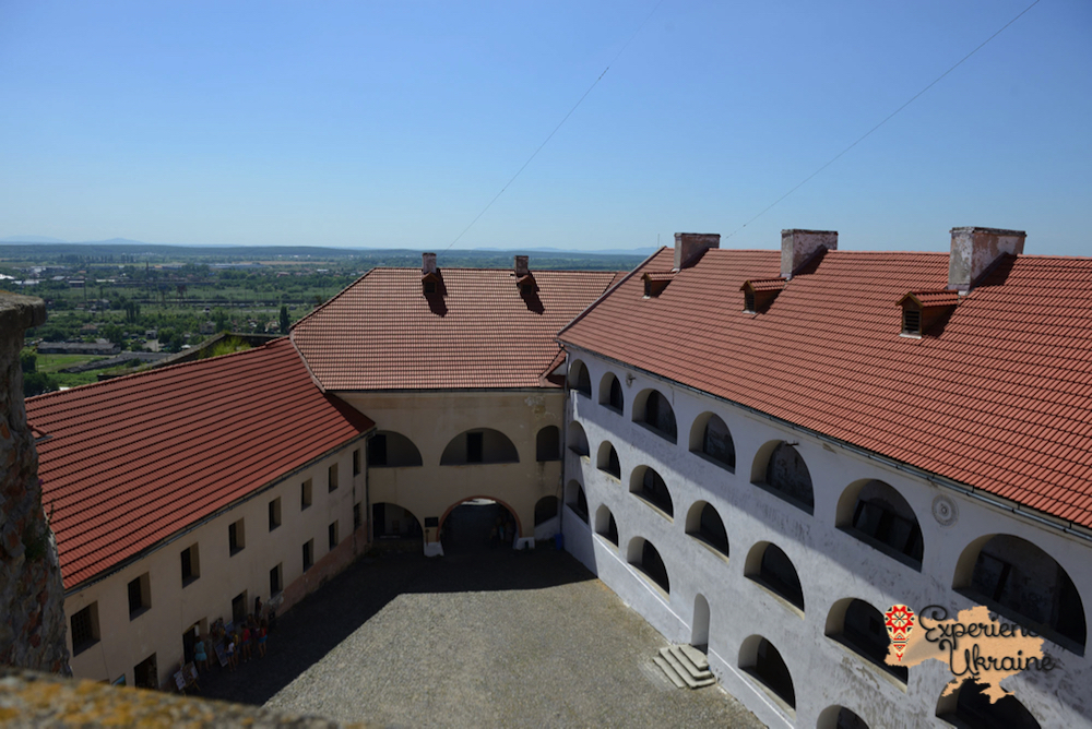 Mukachevo Castle from upper floors-imp