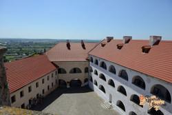 Mukachevo Castle from upper floors-imp