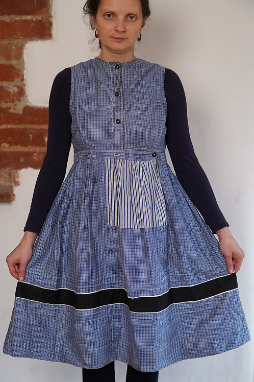 Vintage folk  blue dress
