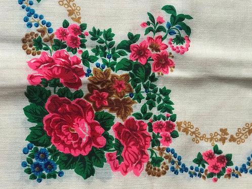 Vintage cream scarf from Ukraine