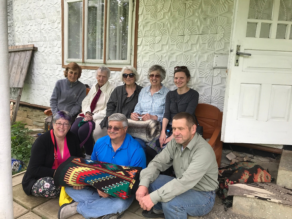 Visiting local weaver Maria in Yavoriv