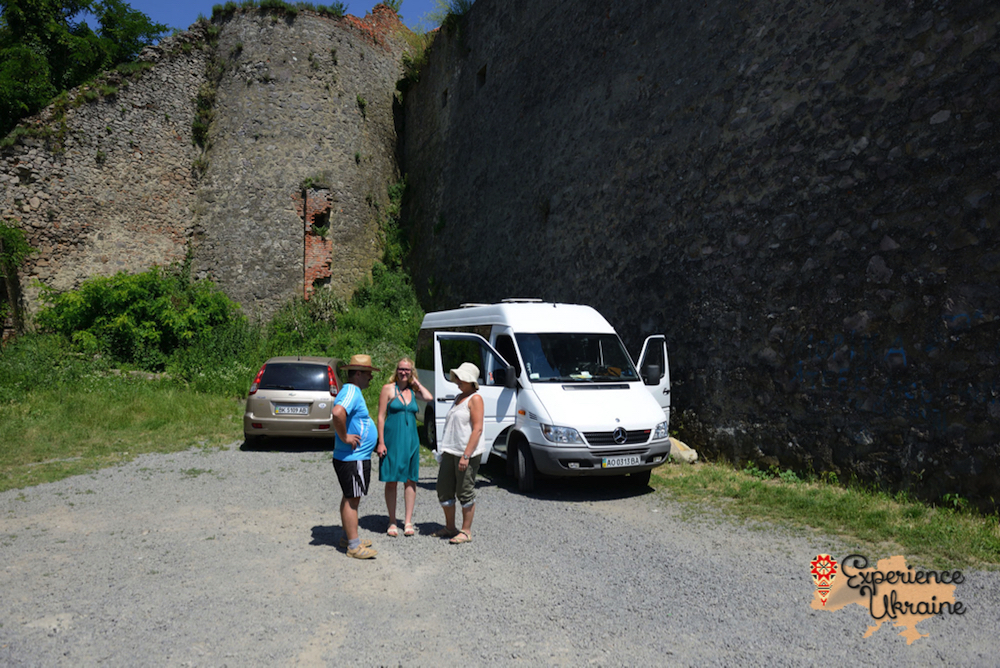 The mini bus at Mukachevo Castle-imp