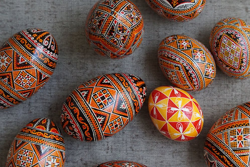 Pysanky decorating workshop for beginners  over zoom, 17th of March 2021