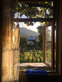 View from the guesthouse in Adjara, 2019