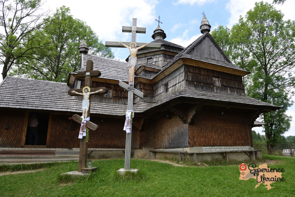 Ukrainian wooden church  and ash dieback-imp