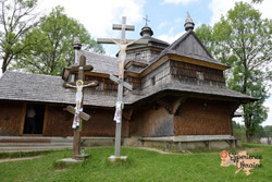 Ukrainian wooden church  and ash dieback-imp