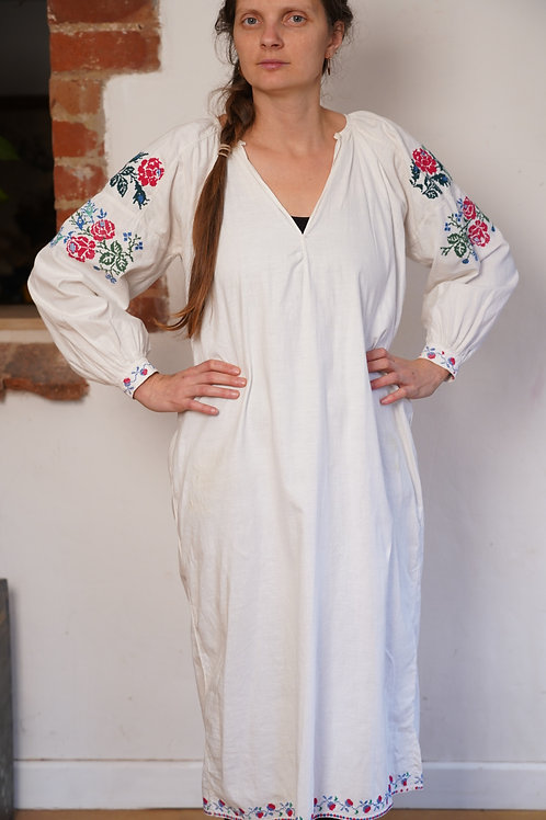 Vintage hand embroidered dress from central Ukraine