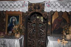 Interior of wooden church