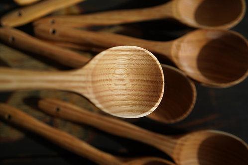 Handmade oak spoon/ soup spoon/ ladle from Ukraine