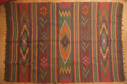 Vntage handwoven kilim from Ukraine