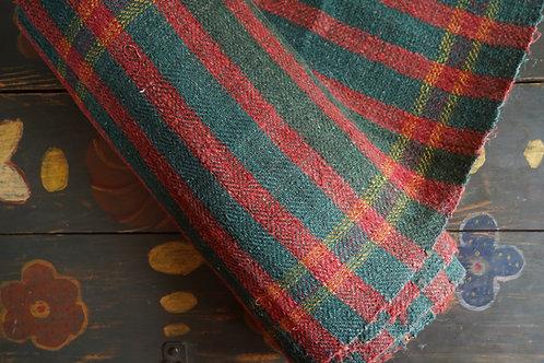 Vintage handwoven hemp runner