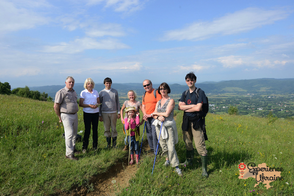 Group on hill above Kosiv-imp