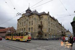 Tram and building Lviv-imp