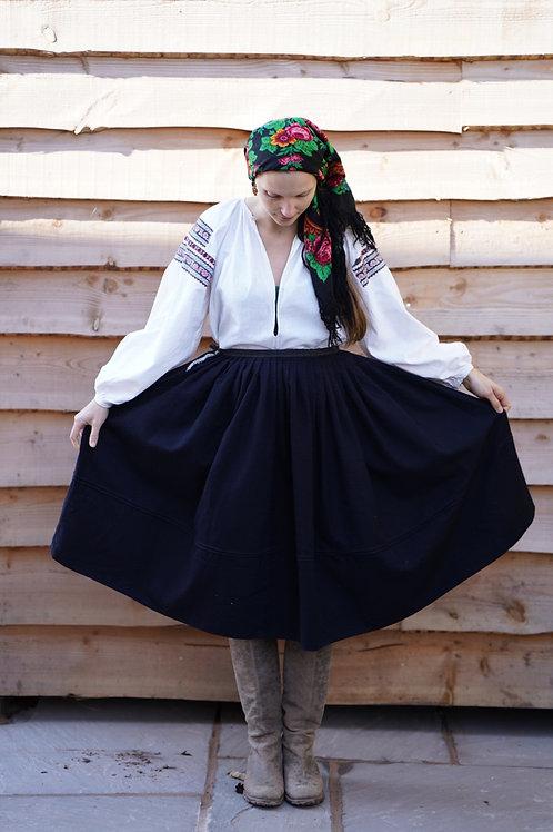 Dark blue vintage skirt from Ukraine