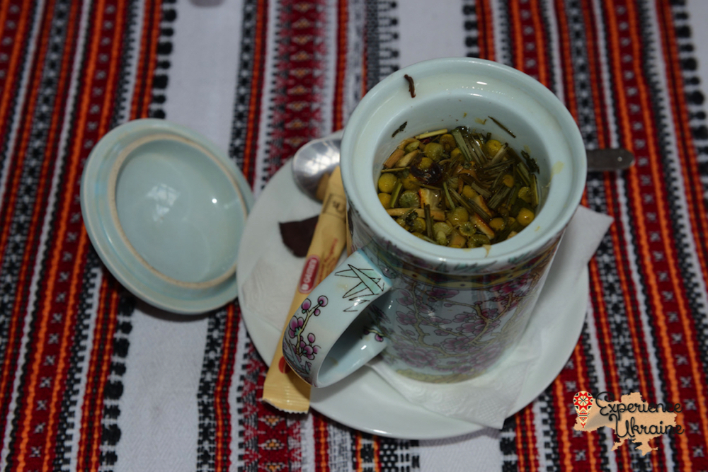 Cup Ukrainian herbal tea-imp