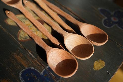 Deep beech spoon from Carpathians