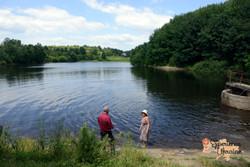 John and Moreen at reservoir at Nyzhnie Selyshe-imp