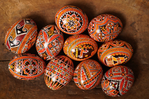 Hand decorated pysanka( Easter egg)