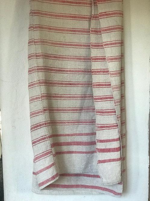 Vintage handwoven linen throw/ table cloth