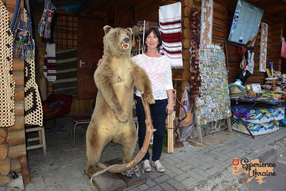 Ukrainian badly stuffed Brown bear-imp
