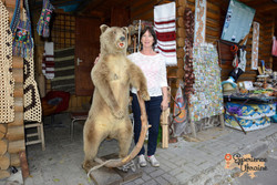 Ukrainian badly stuffed Brown bear-imp