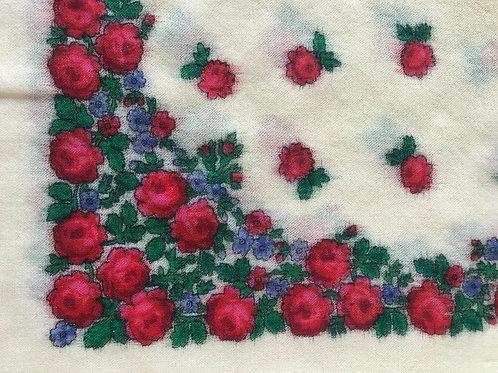 Vintage wool scarf from Ukraine