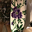 Thumbnail: Vintage handembroidered cushion cover with pansy