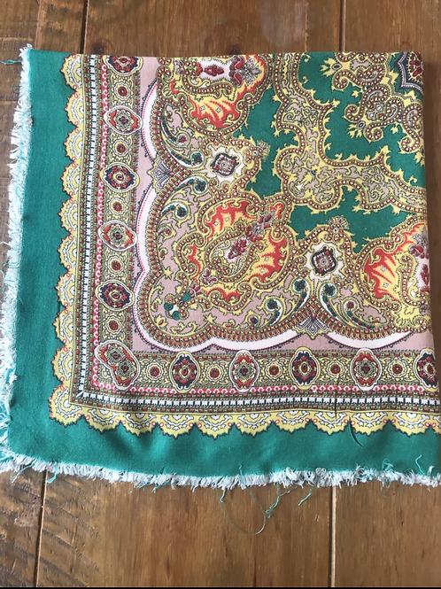 Vintage cotton head scarf fro Ukraine