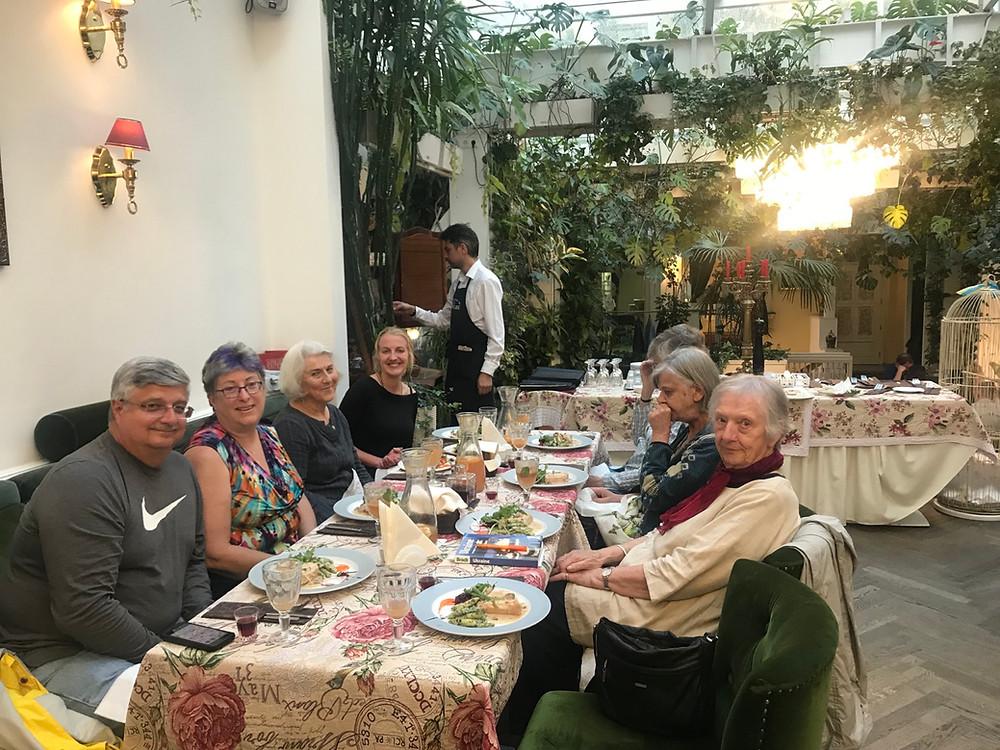 Last evening meal in Lviv