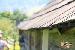 Wood shingle roof in Kryvorivnya