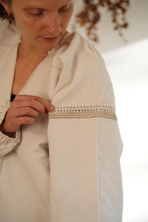 Long hemp dress from Ukraine