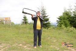 Viktor with home-made horn-imp