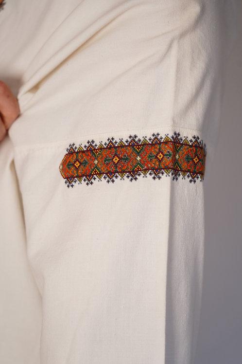 Vintage linen dress from Carpathian Mountains