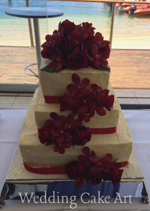 Melinda and Mark Wedding Cake
