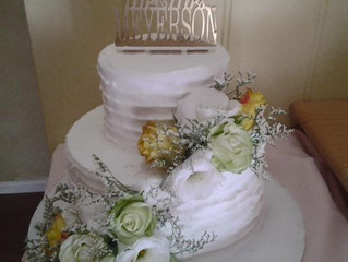 Stephanie and Alex's Wedding Cake