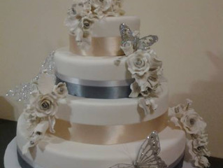 Victor and Jessica's Wedding Cake