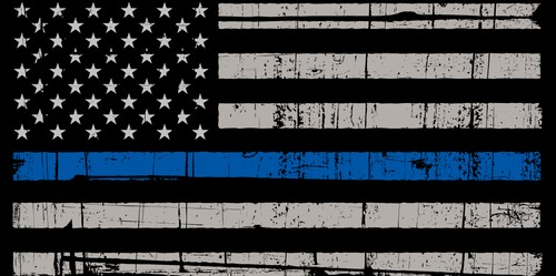 Thin Blue Line-shoes-logo